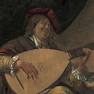 Self Portrait playing a lute (c. 1663/65) by Jan Steen, in Madrid's Museo Thyssen (Photo courtesy of the Museo Thyssen)
