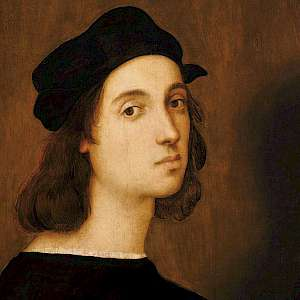 Self portrait (c. 1506) of Raphael, aged about 23, in the Uffizi Galleries of Florence (Photo courtesy of the Uffizi Galleries)