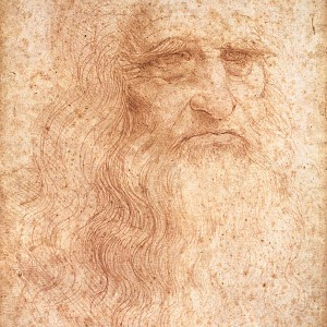 Self-portrait (c. 1512) by Leonardo Da Vinci—or at least it is believed to be a self portrait—in the Biblioteca Reale, Turin (Photo )