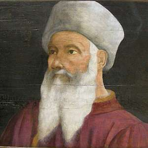 Portrait of Paolo Uccello (16C), by an unknown Florentine artist, from a fresco now at the Louvre, Paris (Photo by sailko)