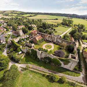 Amberly Castle from the air (Photo courtesy of the property)