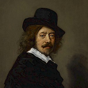 Portrait of Frans Hals (1648–50), a copy (by one of his followers) of a self-portrait, in the Indianapolis Museum of Art (Photo courtesy of the Indianapolis Museum of Art)