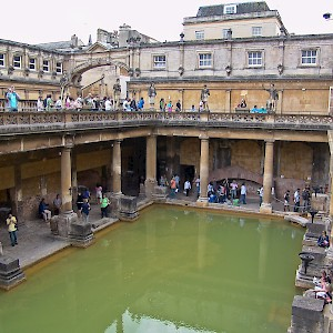 The main pool of the ancient Roman Baths (Photo © Reid Bramblett)