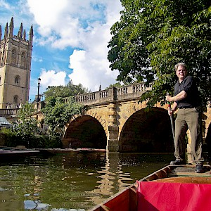 Your fearless author, punting the Cherwell (Photo © Frances Sayers)