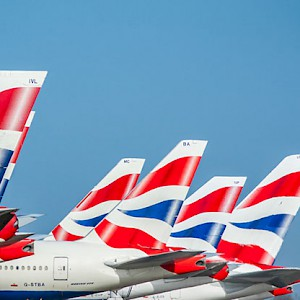 British Airways plane tails at Heathrow Airport (Photo courtesy of Heathrow Airport Limited)
