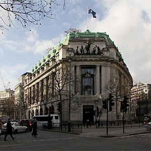 "Australia House, home to the Australian Embassy (which we show since its interior was also used as ""Gringotts,"" the wizarding bank in the first Harry Potter film). (Photo by Martin Addison)"