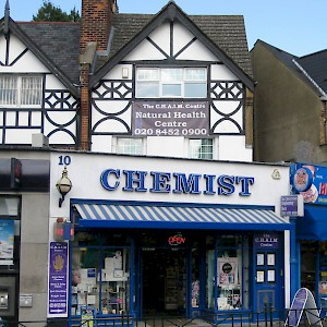 A chemists (pharmacy) in London (Photo by Michael Caroe Andersen)
