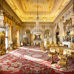 The White Drawing Room at Buckingham Palace (Photo by Unknown)