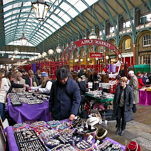 The stalls at Covent Garden market (Photo © Reid Bramblett)