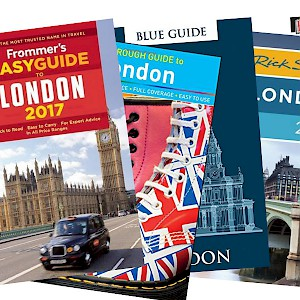 My favorite London guidebooks (Photo images courtesy of the publishers)