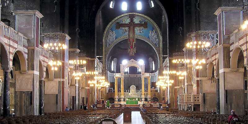 The interior of Westminster Cathedral (Photo by Adrian Pingstone)