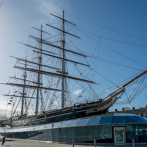 The Cutty Sark, moored in Greenwich (Photo by Krzysztof Belczyński)