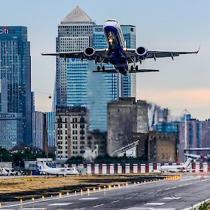 Little London City Airport really is in London itself (Photo by Aleem Yousaf)