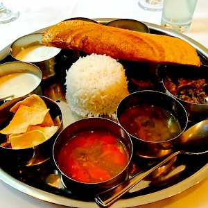 A small thali (Photo by Herry Lawford)