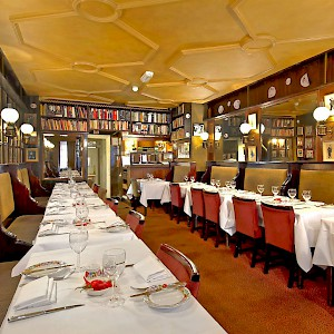 The main dining room at Gay Hussar (Photo courtesy of the restaurant)