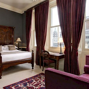 A room at The Gore Hotel in London (Photo courtesy of the hotel)