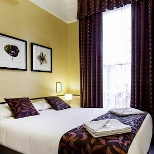 A room at the Tudor Court Hotel (Photo courtesy of the hotel)