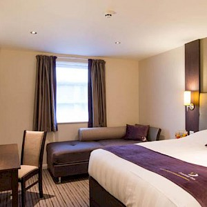 A room at the Premier Inn London Southwark Borough Market (Photo courtesy of the hotel)