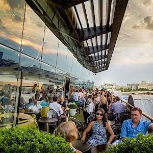 The famous dining terrace at Oxo (Photo courtesy of the restaurant)