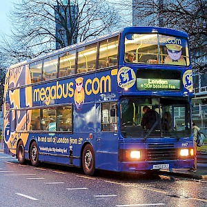 You can take a Megabus coach for as little as £1 (plus a 50p booking fee) (Photo by Nick)
