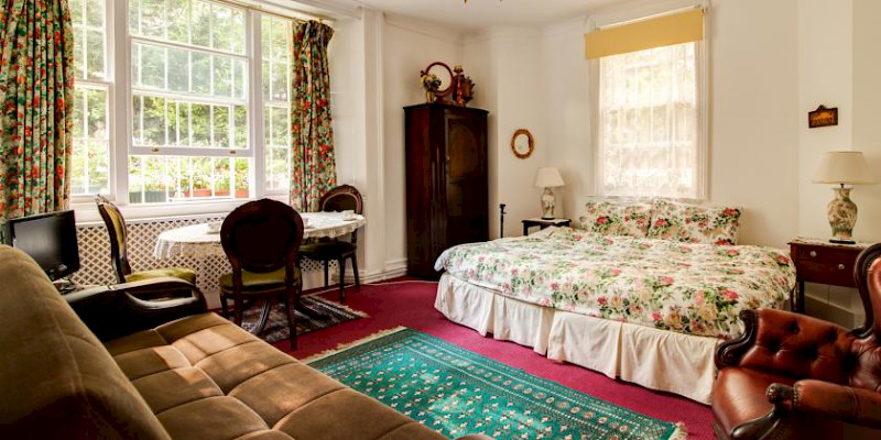 A room at Dawson Place, Juliette's Guest House B&B, London (Photo courtesy of the bed and breakfast)