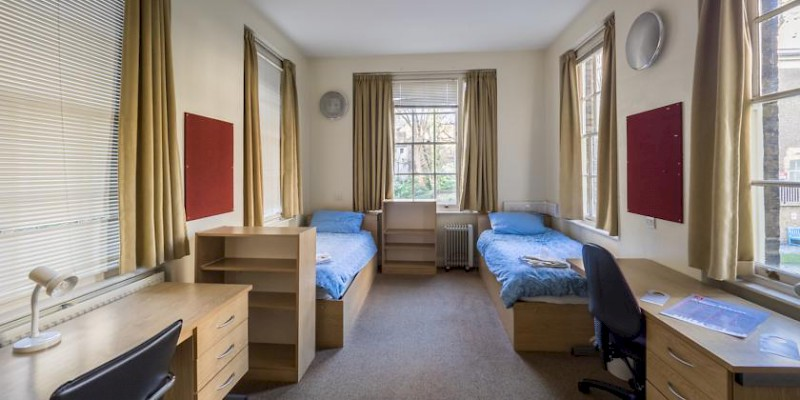 A dorm room at the London School of Economics (Photo courtesy of the LSE)