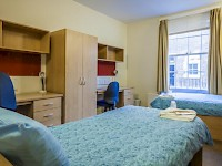 A room at the LSE Passfield Hall dorm