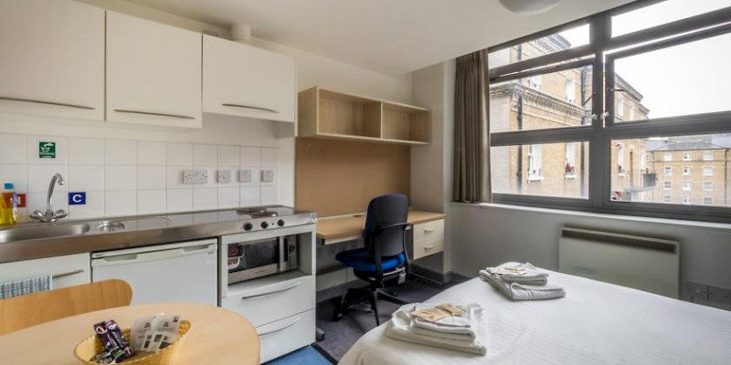 A room at the LSE Grosvenor dorm (Photo courtesy of the LSE)
