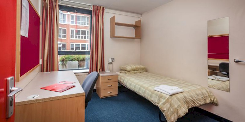 A room at the LSE Roseberry Hall dorm (Photo courtesy of the LSE)