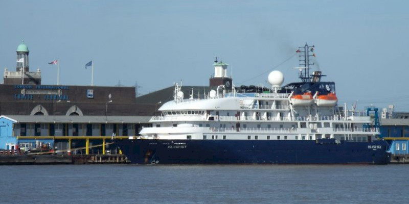 A ship at the Tilbury docks (Photo courtesy of London Cruise Terminal)