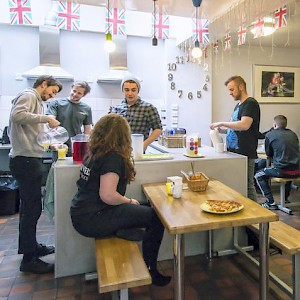 Communal kitchens and camaraderie are part of the appeal of hostels (along with low prices) (Photo courtesy of the hostel)