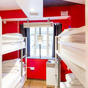 A dormitory room at London's The Generator Hostel (Photo courtesy of the hostel)