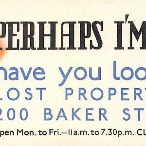 A 1930s poster about London's public transit lost property office (Photo © TfL from the London Transport Museum collection)