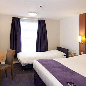 A room at the Premier Inn London Leicester Square (Photo courtesy of the hotel)