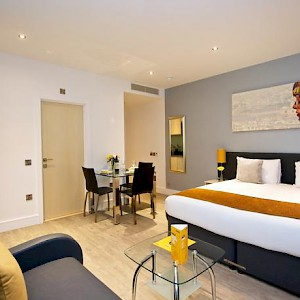 An efficiency suite room at London's StayCity Greenwich High Road (Photo courtesy of the property)
