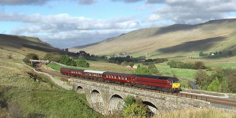Rail travel in Great Britain (Photo by Don Burgess)