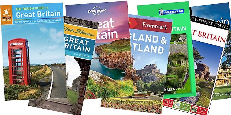 Travel guidebooks to Great Britain (Photo cover images courtesy of the publishers)