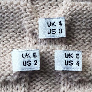 U.K. clothing sizes differ from U.S. and EU ones (Photo courtesy of AliExpress)