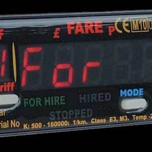 A taxi meter (Photo )