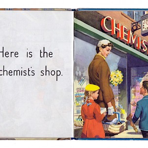 "The Chemist is a British institution, show here in the classic, 1958 Ladybird book ""Shopping with Mother"" (Photo )"