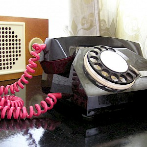 Beware the hotel in-room telephone (Photo by Mark Hills)