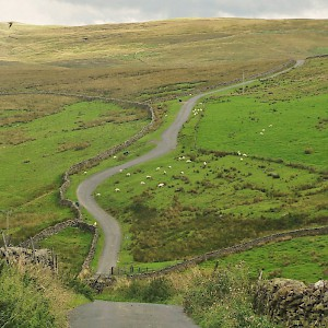 The lovely Stainforth to Malham road in Malhamdale in England's Yorkshire Dales (Photo courtesy of Drivethedales.com)