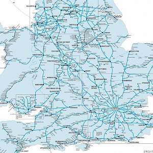 A map of the British rail system (Photo courtesy of NationalRail.co.uk)