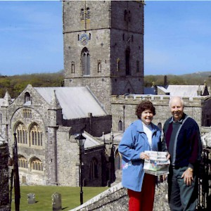 Affordable Travel Club members visit St. David's Cathedral in westernmost Wales during a homestay (Photo courtesy of the Affordable Travel Club)