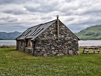 A bothy by Loch Nevis at Kylesmorar