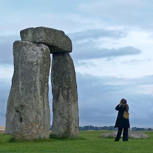 A pro take photographs at Stonehenge (Photo by Reid Bramblett)