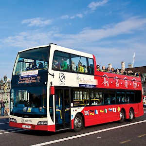 An open-top bus tour of London (Photo courtesy of The Original Sightseeing Tour)