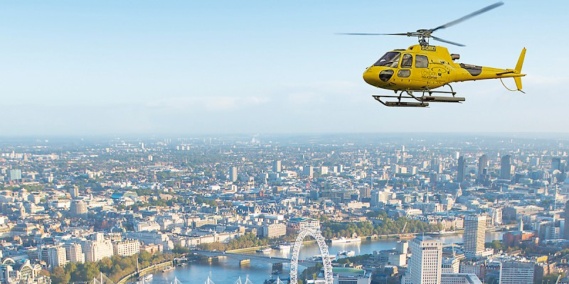 A helicopter ride over London (Photo courtesy of Viator)