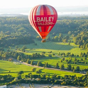 A hot air balloon flight over the English countryside near Bath (Photo by SJMatthews)