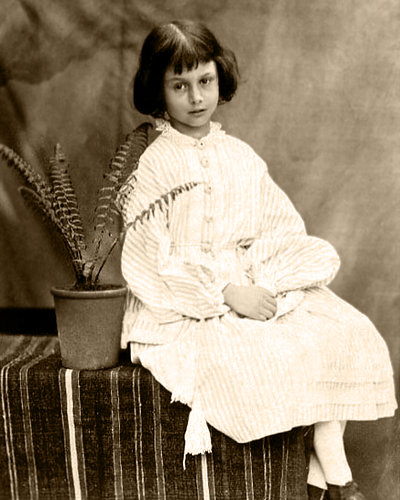 Alice Liddell, Age 7, Interest (Photo by Lewis Carroll)